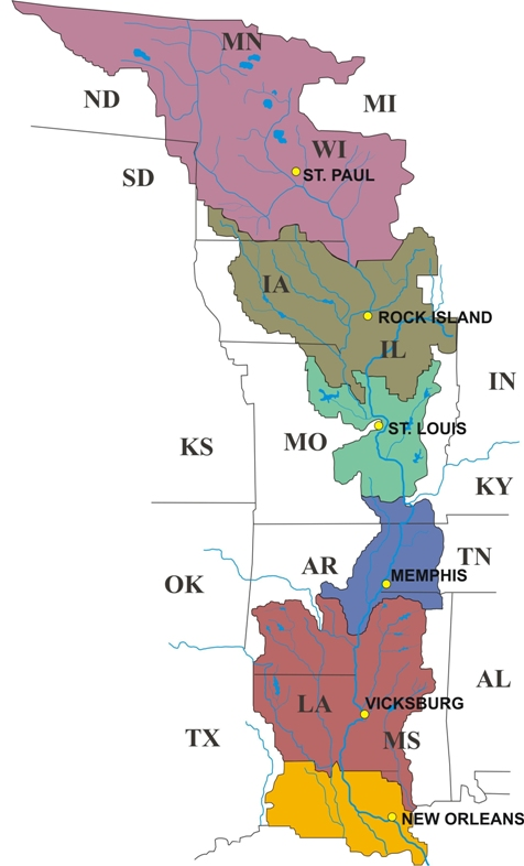Mississippi Valley Division Locations - Us-corps-of-engineers-maps