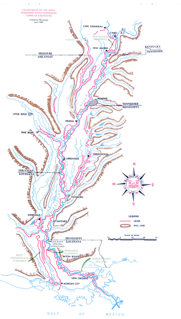 Mississippi River and Tributaries Levees